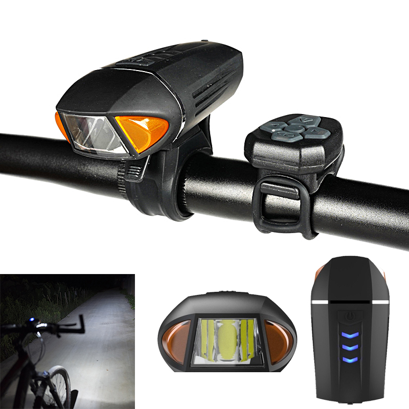 BIKIGHT Bike Bicycle Light Horn Bell USB Waterproof Cycling Electric Scooter Motorcycle