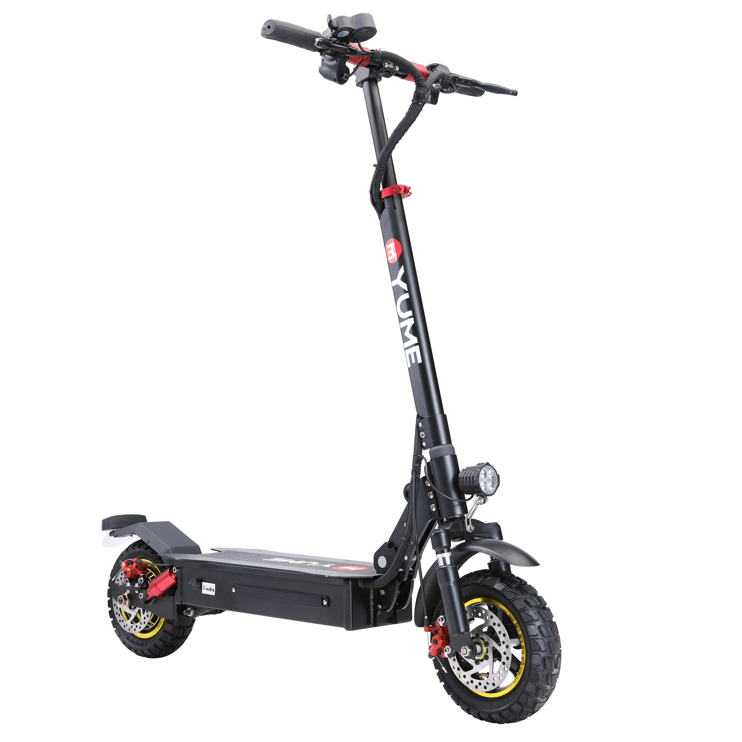 YUME S10 13Ah 48V 1000W Folding Electric Scooter 45-50Km/H Top Speed 35-40Km Range Mileage Double Brake System Max Load 120Kg