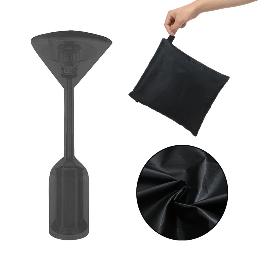NASUM Stand-Up Patio Heater Cover, 600D Heavy Duty Oxford Waterproof Heater Covers with Zipper for Outdoor Heaters