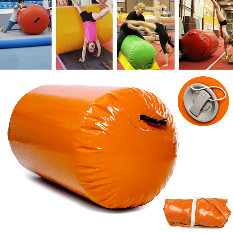 47.2X23.6Inch Inflatable Tumbling Oval Mats Airtrack Exercise Tools Gymnastics Air Rolls Balance Fitness Train