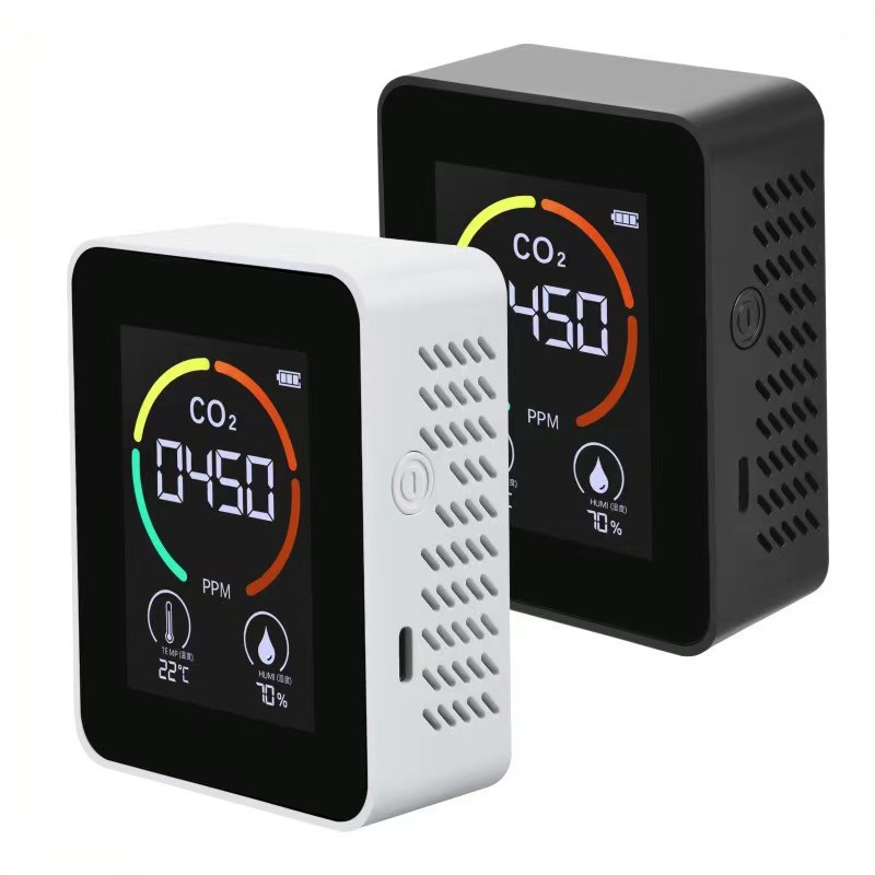 3 in 1 Portable Semiconductor Carbon Dioxide Detector for Air Quality Temperature and Humidity Detection