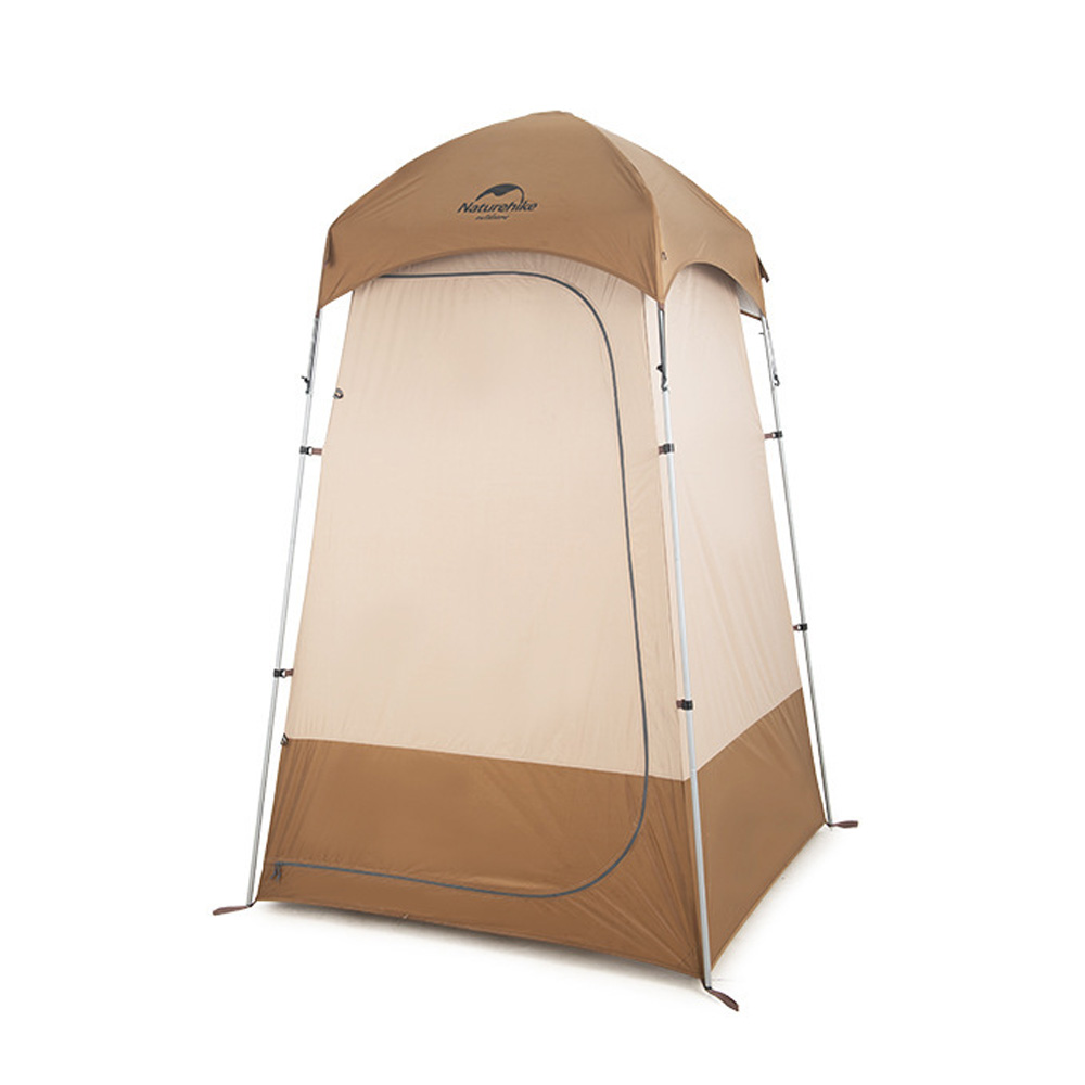 Naturehike Portable Privacy Shower Tent Toilet Metal Rods Waterproof PU2000 Sliver Coated Sunshade Canopy