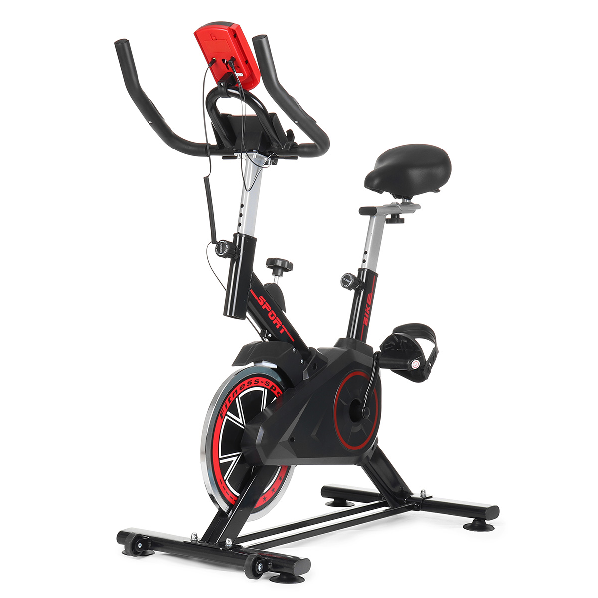 Fitness Exercise Bike Carbon Steel Ultra-Quiet Cycling Flywheel Training Bicycle Heavy Duty Sport Slimming Equipment