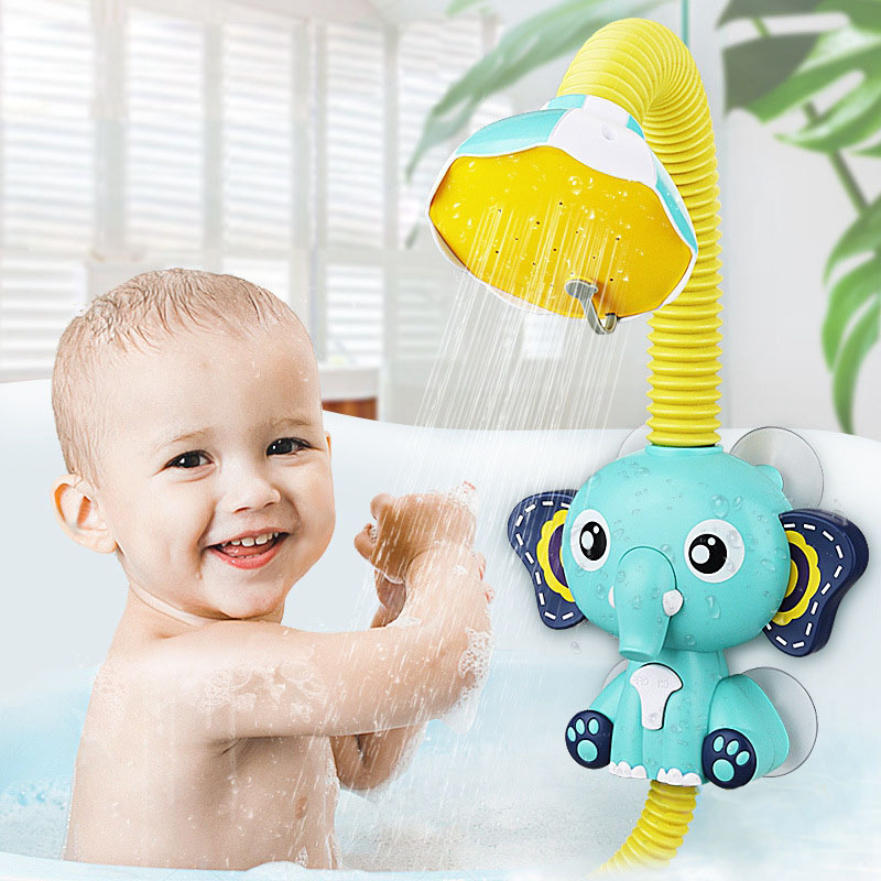 Electric Elephant Shower Tool Spray Baby Bath Swimming Toys for Kids Bathroom Water Game