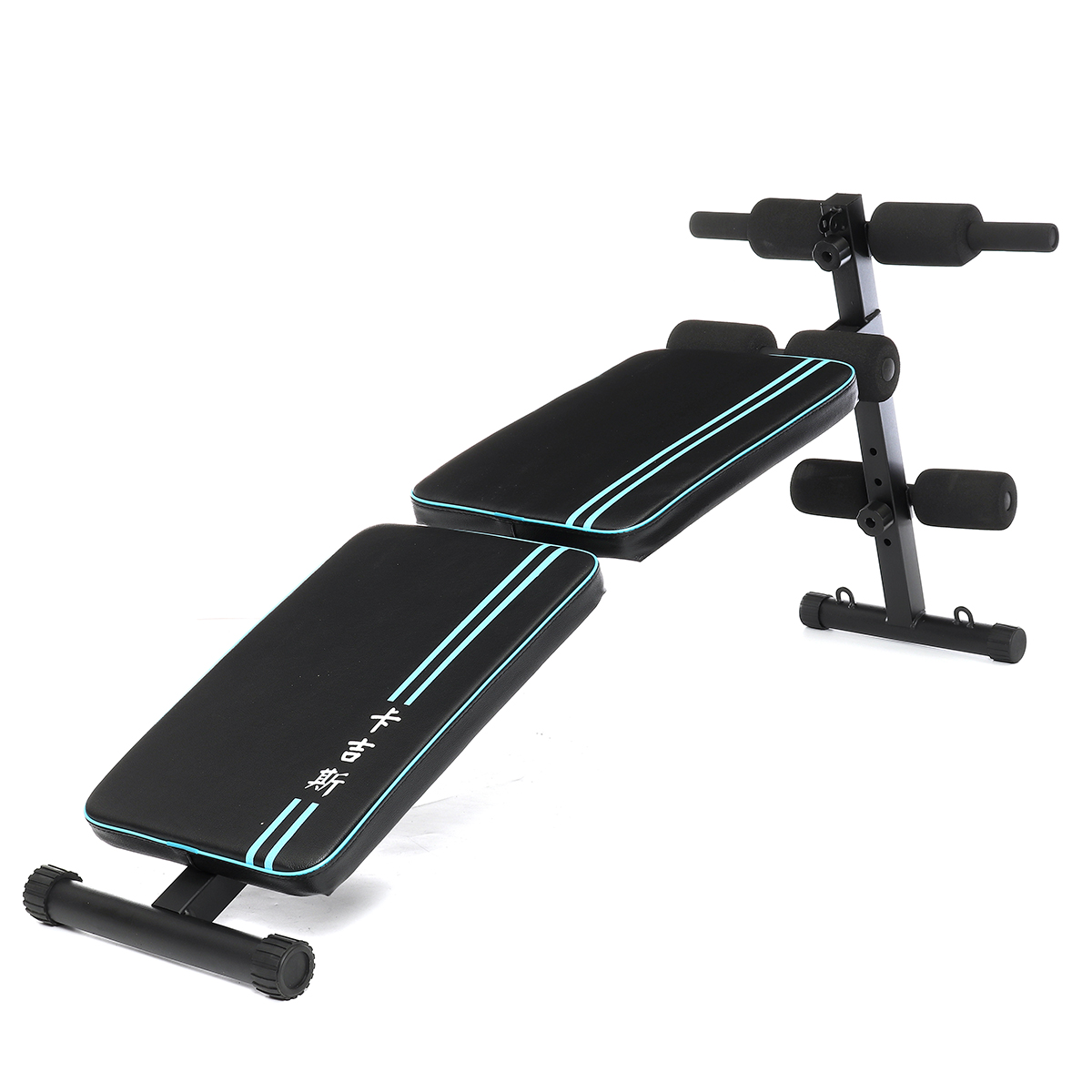 Multifunction Double Folding Exercise Bench Ab Sit-Ups Muscle Trainer Adjustable Bench Fitness Equipment