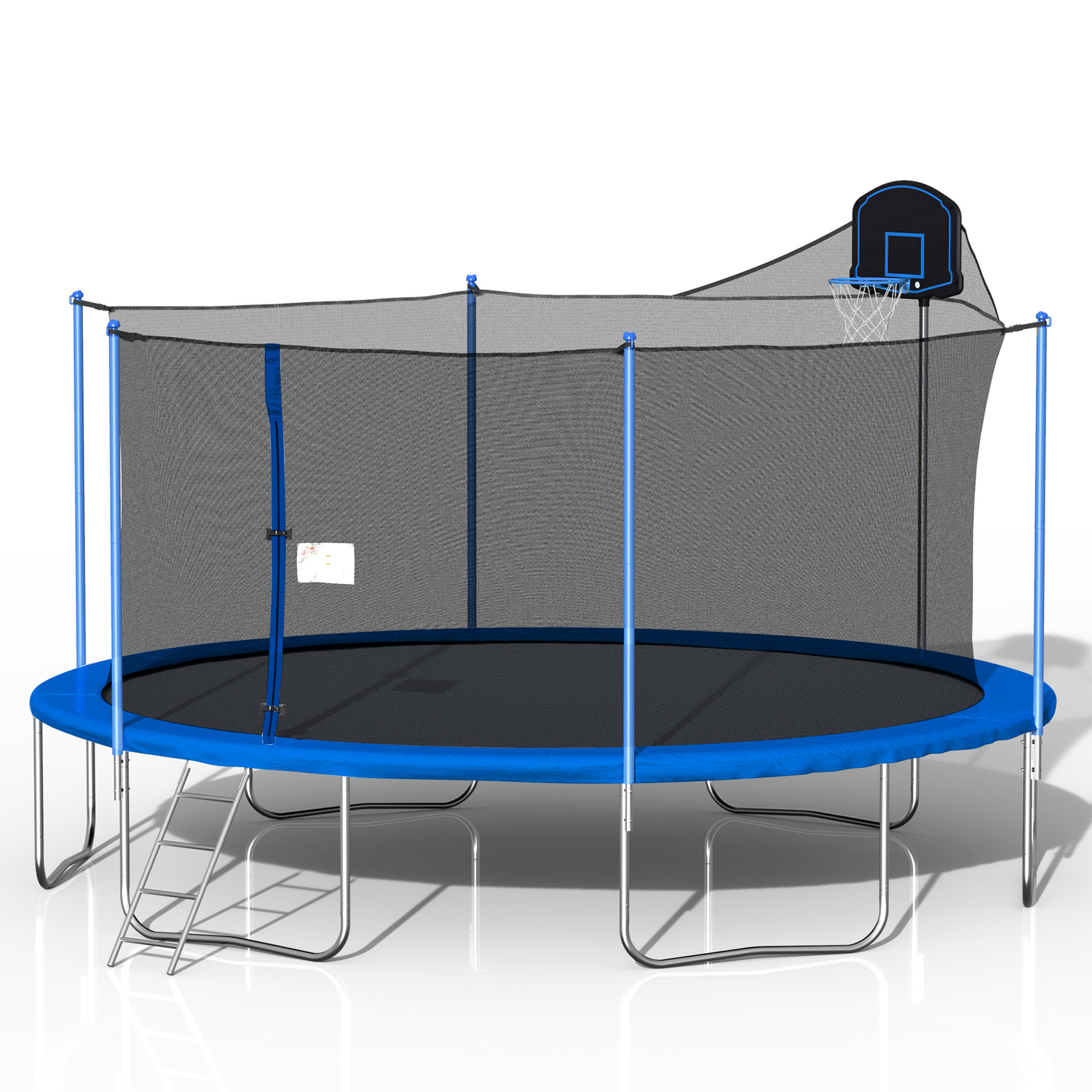 [US Direct]Bominfit 16Inch Fitness Trampoline with Basketball Frame Aerobic Jump Training Gym Exercise Jump Kids Adult Home Garden Exercise Tools