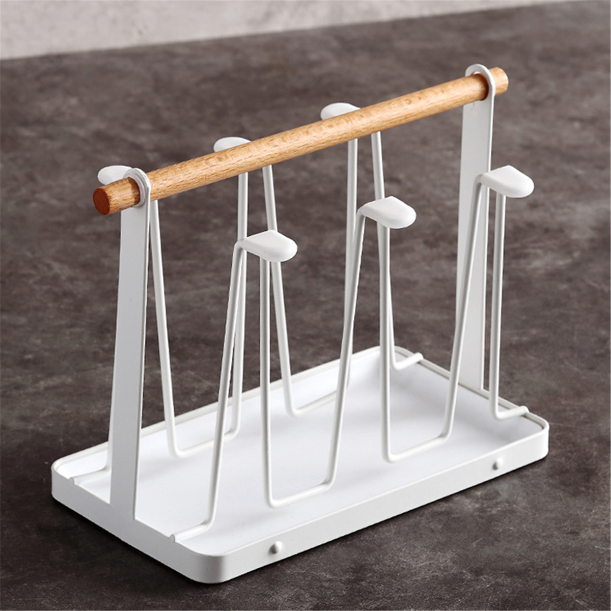 Wrought Iron Upside down Drain Japanese Style Cup Holder Water Cup Mug Storage Rack Drain Rack