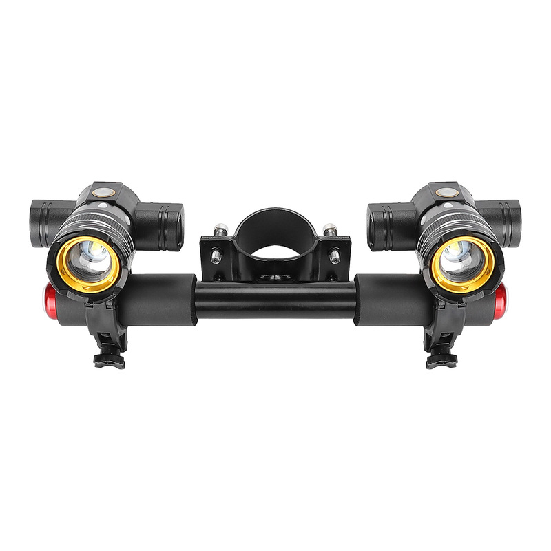 BIKIGHT Scooter Lighting Headlight with Kids Armrest T6 USB Rechargeable LED Light for Xiaomi Scooter M365/G30
