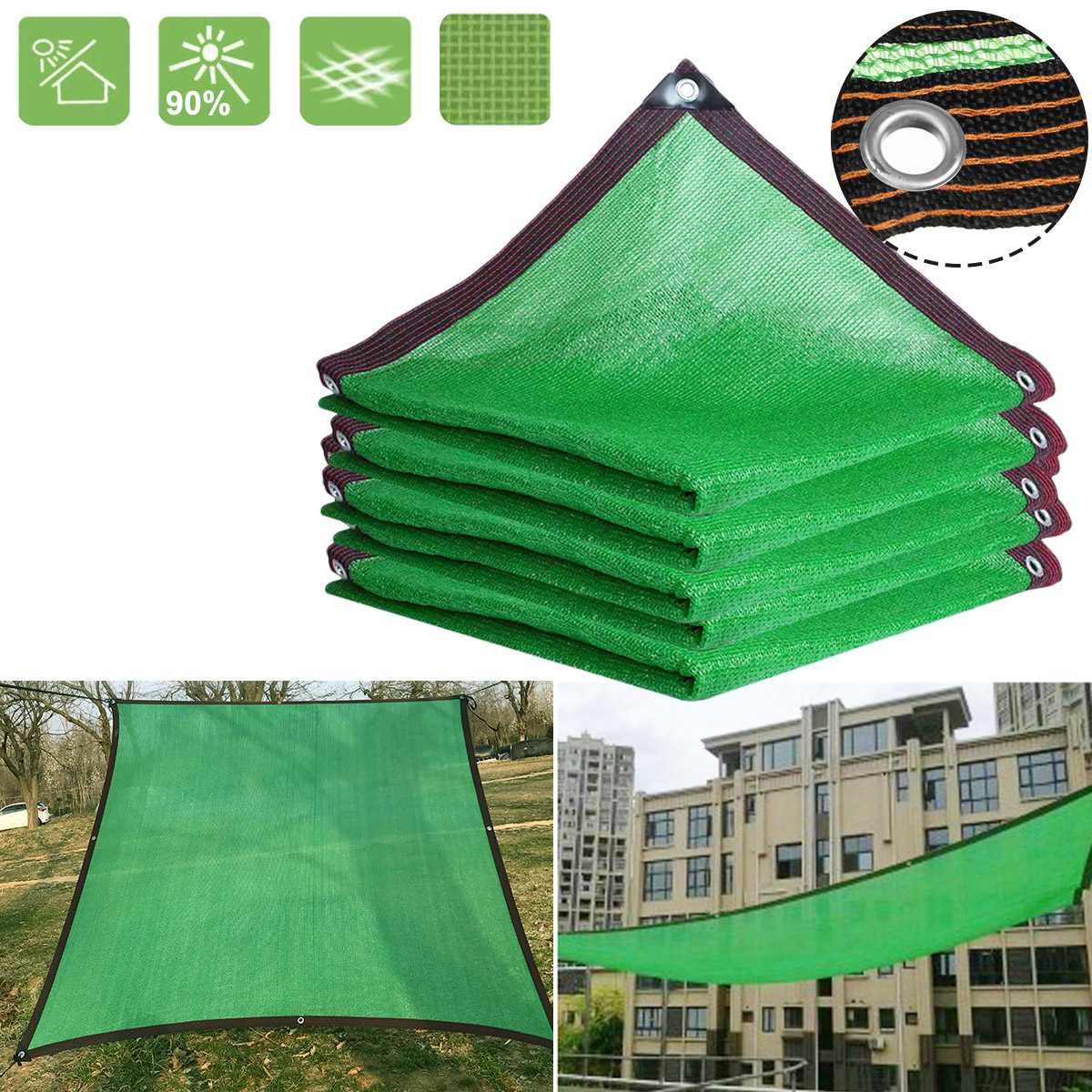 Greenhouse Cover UV Resistance Sunscreen Net Garden Shade Protected