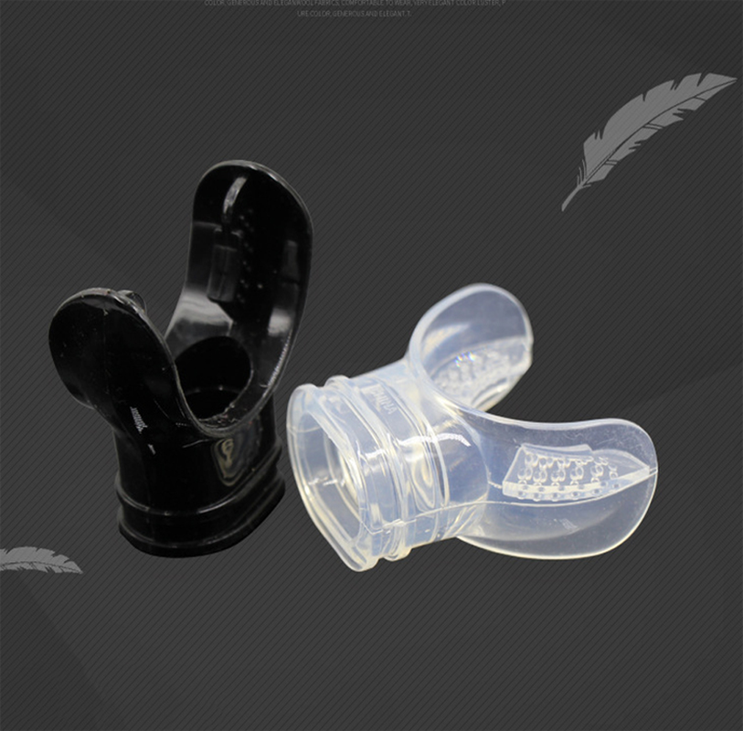 Oxygen Tank Food-Grade Silicone Nozzle Gas Tank Accessories Snorkel Mouthpiece PVC Non-Deforming Fitting for Diving