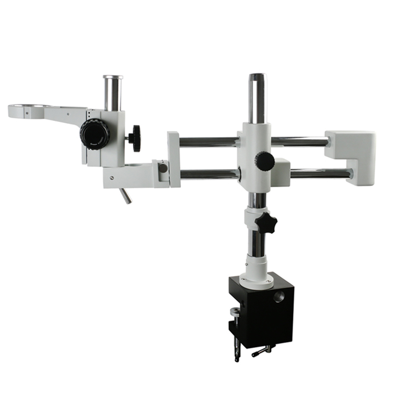 76Mm Focusing Ring Clamp Microscopio Holder Double Boom Stand Dual Arms Industrial Zoom Trinocular Stereo Microscope Stand