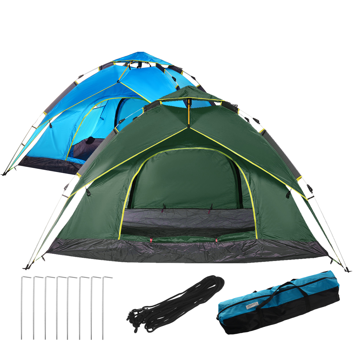 3-4 People Family Camping Tent Automatic Instant Sunshade Waterproof Awning Hiking Travel Fishing