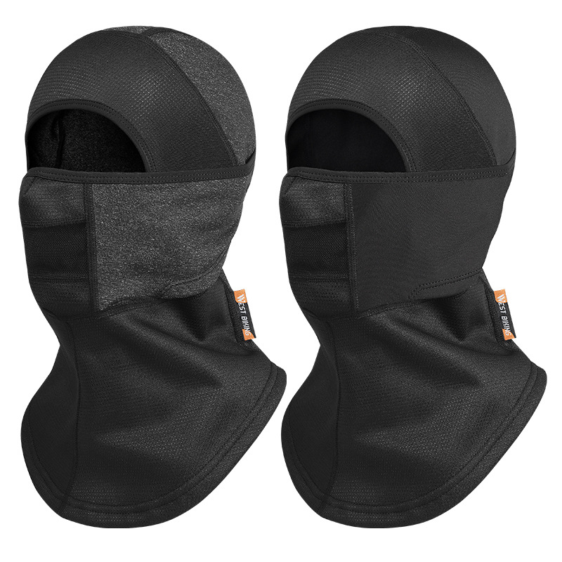 WEST BIKING Thermal Face Mask Wind-Proof Cycling Neck Warmer Motorcycle under Helmet Lining Mask Caps with Ear Covers Retention Hat