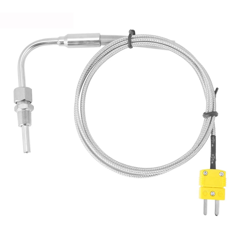 EGT K Type Thermocouple Temperature Controller Tools 0-1250 C Exhaust Gas Temp Sensor Probe Connector with Exposed Tip