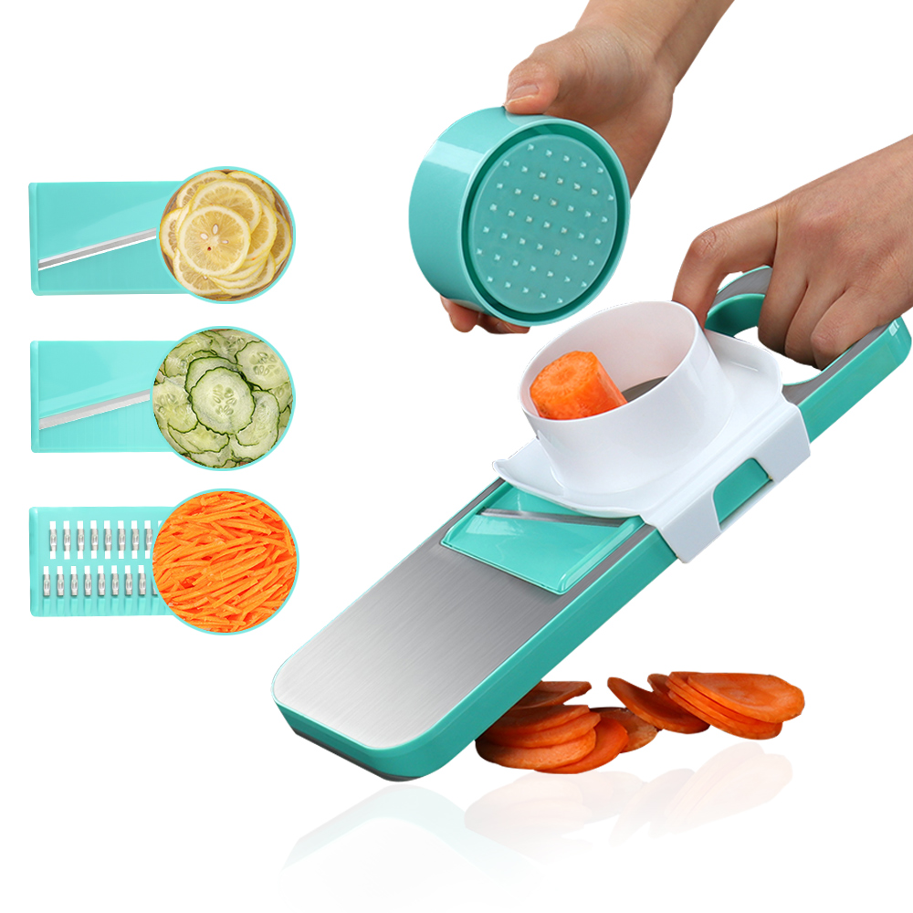 XYJ-007 Multifunctional Stainless Steel Cutter Slicer Vegetable Cutter with Three Replaceable Blades