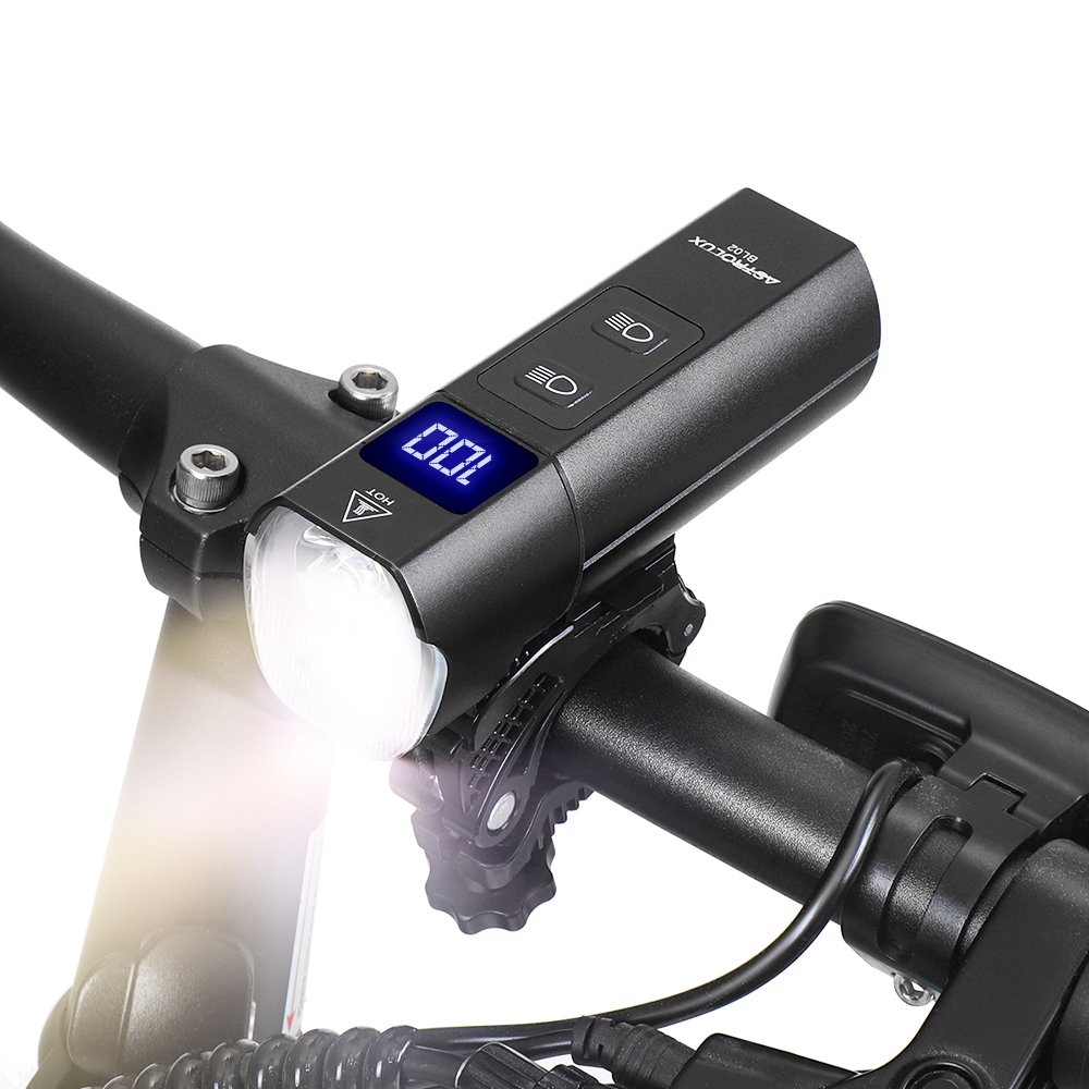 Astrolux® BL02 XPG-3 1200Lm 5Modes Dual Distance Beam Bike Light USB Rechargeable Flashlight 5000Mah Power Bank Waterproof Front Light for Electric Bike Scooter