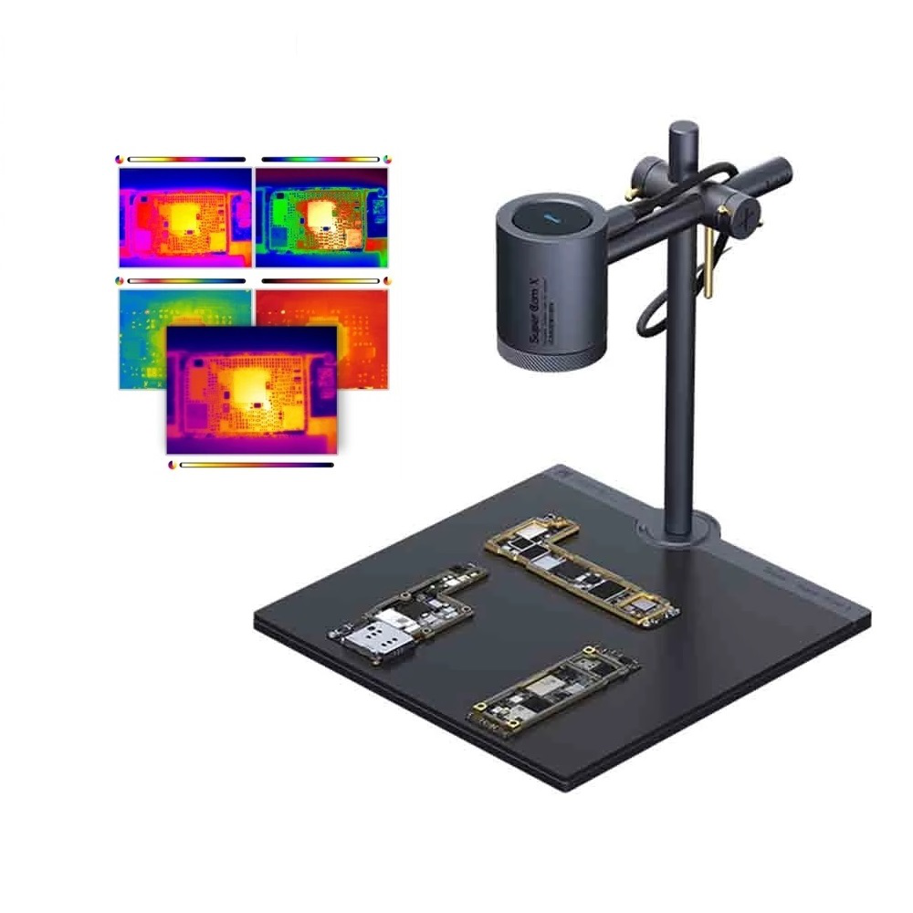 Super Cam X 3D Infrared Thermal Imager Camera -20℃~120℃ Mobile Phone PCB Troubleshoot Motherboard Repair Fault Diagnosis Instrument