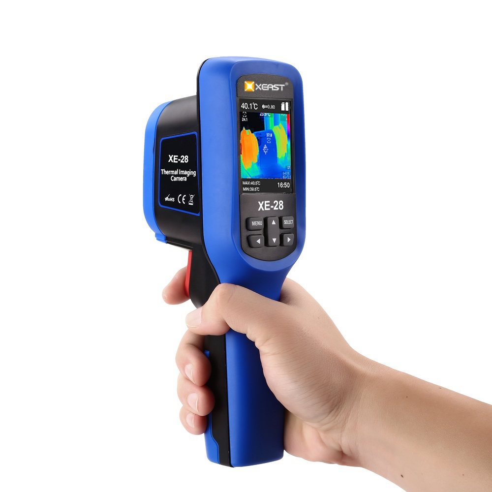 XEAST XE-27 XE-28 Ultra-Cool and Ultra-Clear Color 2.5-Inch LCD Display Thermal Imager 60*60 Resolution Infrared Thermometer