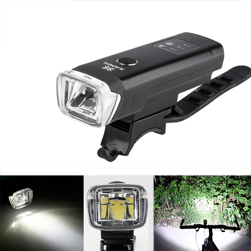 XANES SFL03 600LM XPGLED German Standard Smart Induction Bicycle Light IPX4 USB Rechargeable Large F