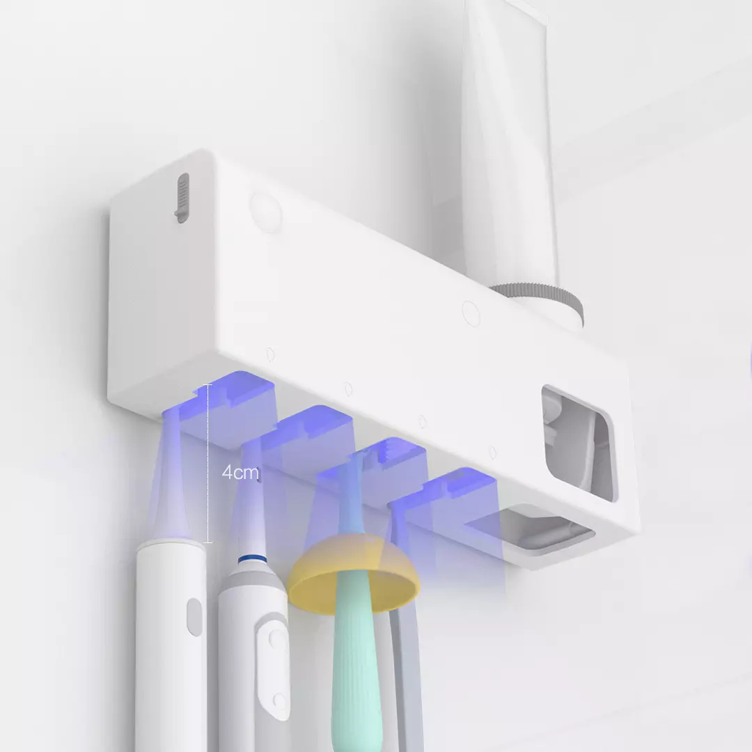Dr.Meng Smart Induction UV Electric Toothbrush Sterilizer Wall Mounted Toothbrush Dsinfection Holder Automatic Toothpaste Dispenser