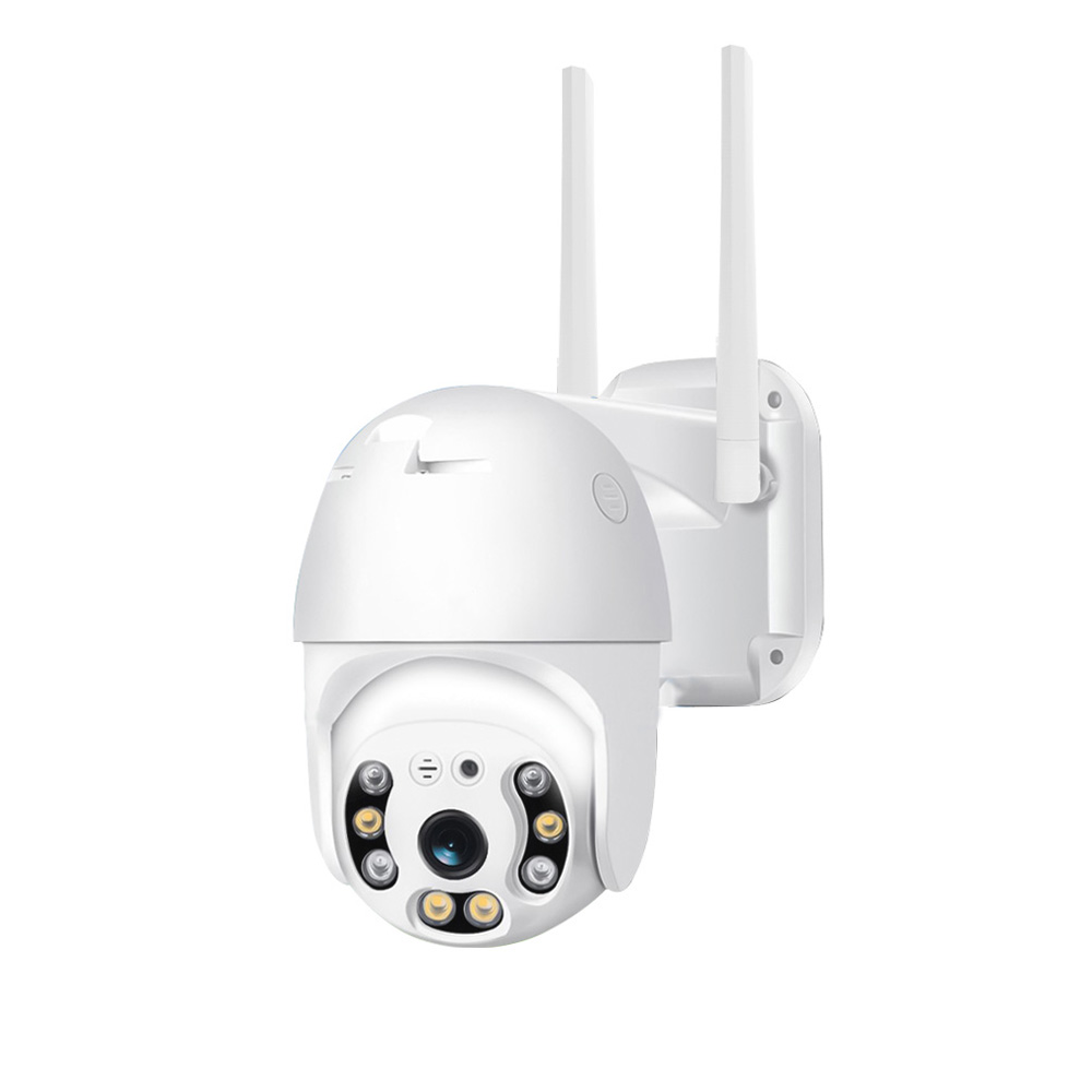 [EU Plug] Xiaovv P2 Dual Antenna WIFI HD 2MP IP Camera 360° PT-Z Rotation H.265 Waterproof IP65 ONVIF Infrared Full Color Night Version From