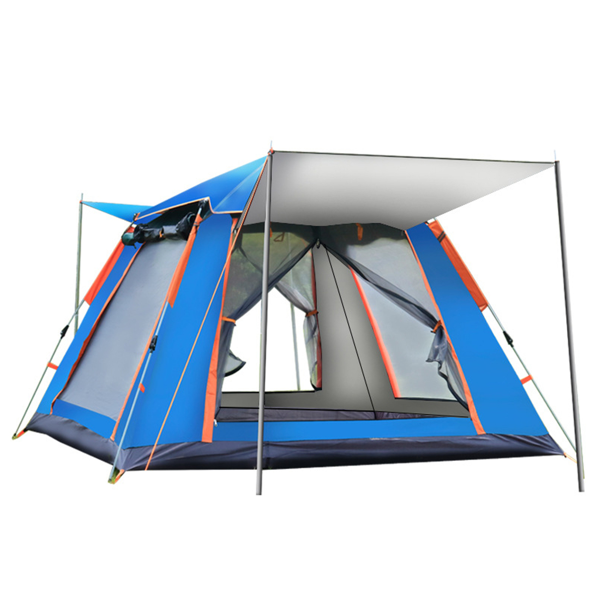4-5 People Fully Automatic Set-Up Tent UV Protected Family Picnic Travel Sun Shelters Outdoor Rainproof Windproof Camping Tents