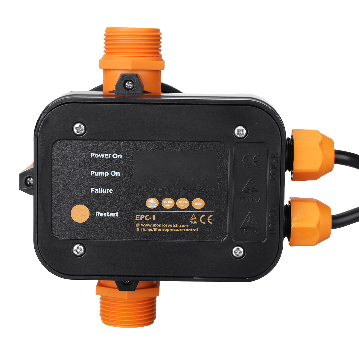 110V-240V Automatic Water Pump Electric Switch Control Pressure Controller 10Bar