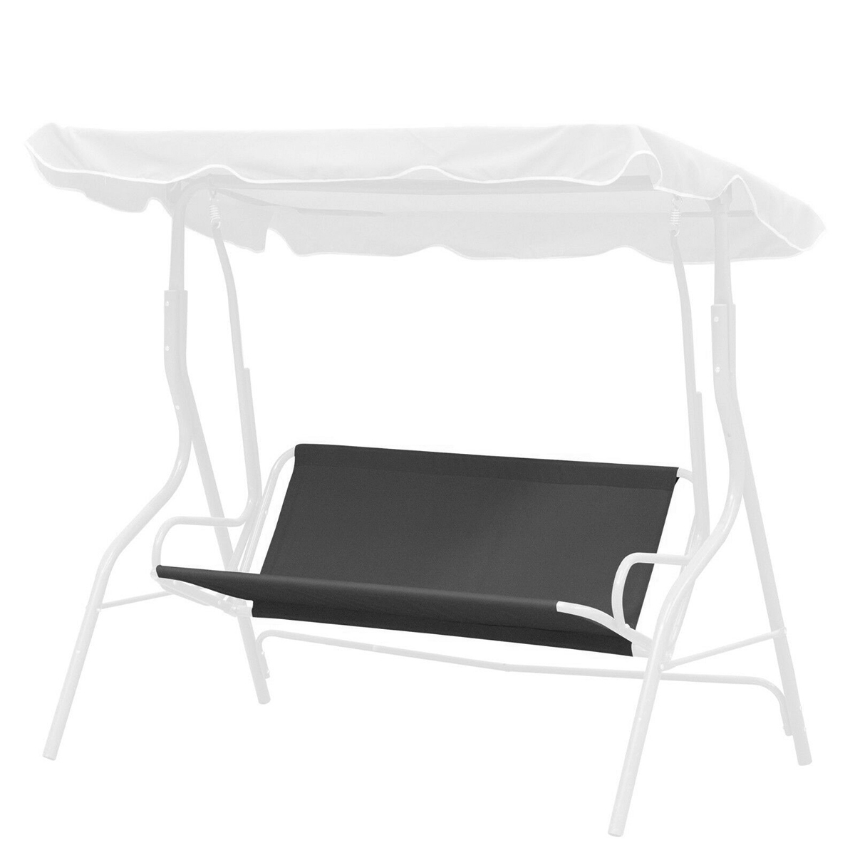 Polyester 3 People Swing Seat Cover Waterproof Uv-Proof Replacement Chair Cushion Patio Garden