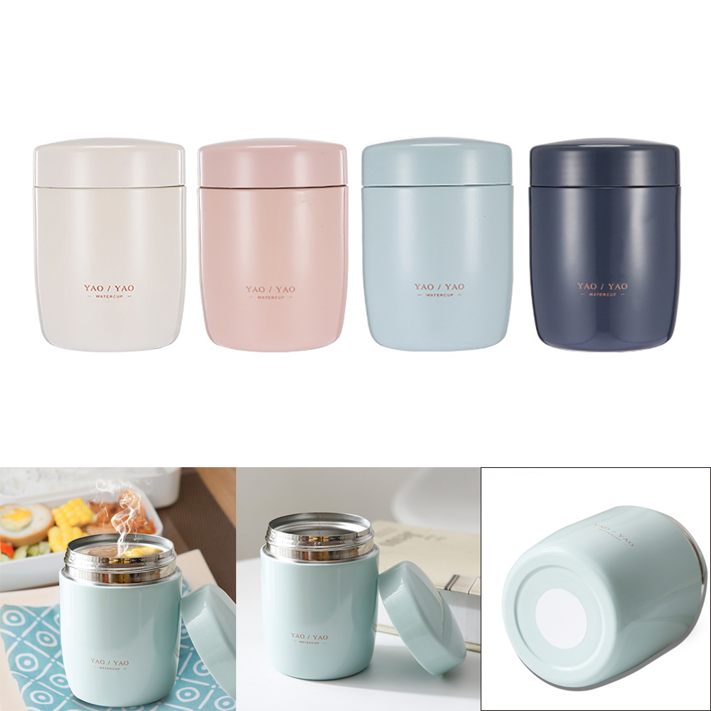 260ML Mini Food Thermos Lunch Box Stainless Steel Food Soup Containers Vacuum Flasks Thermos Cup Outdoor Camping Travel