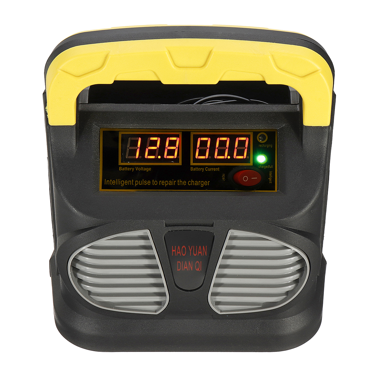Intelligent Battery Charger 220V AC to 12/24V DC Pulse Repair Car Battery Charger Automatic
