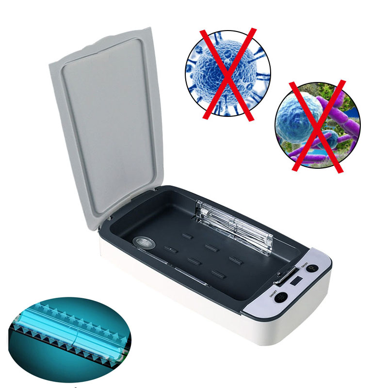 9W UV Phone Sterilizer Box USB Rechargeable Jewelry Cleaner Sanitizer Disinfection Case