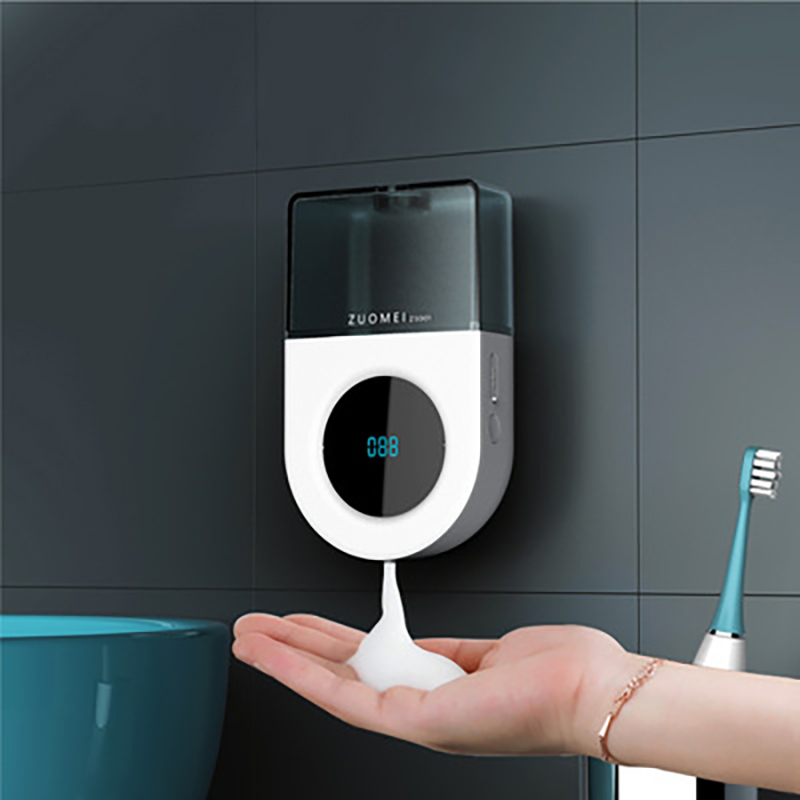Wall-Mounted LED Displayed Battery Automatic Soap Dispenser Contact-Free 3 Bubble Modes Adjustable Hand Sanitizer