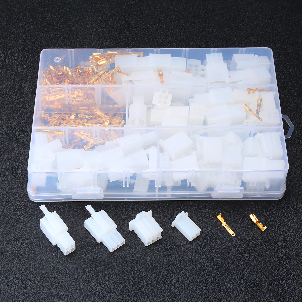 380Pcs 40 Set Auto Electrical Terminal Practical 2.8 Mm 2/3/4/6 Pin Way Cable Wire Connectors Terminals