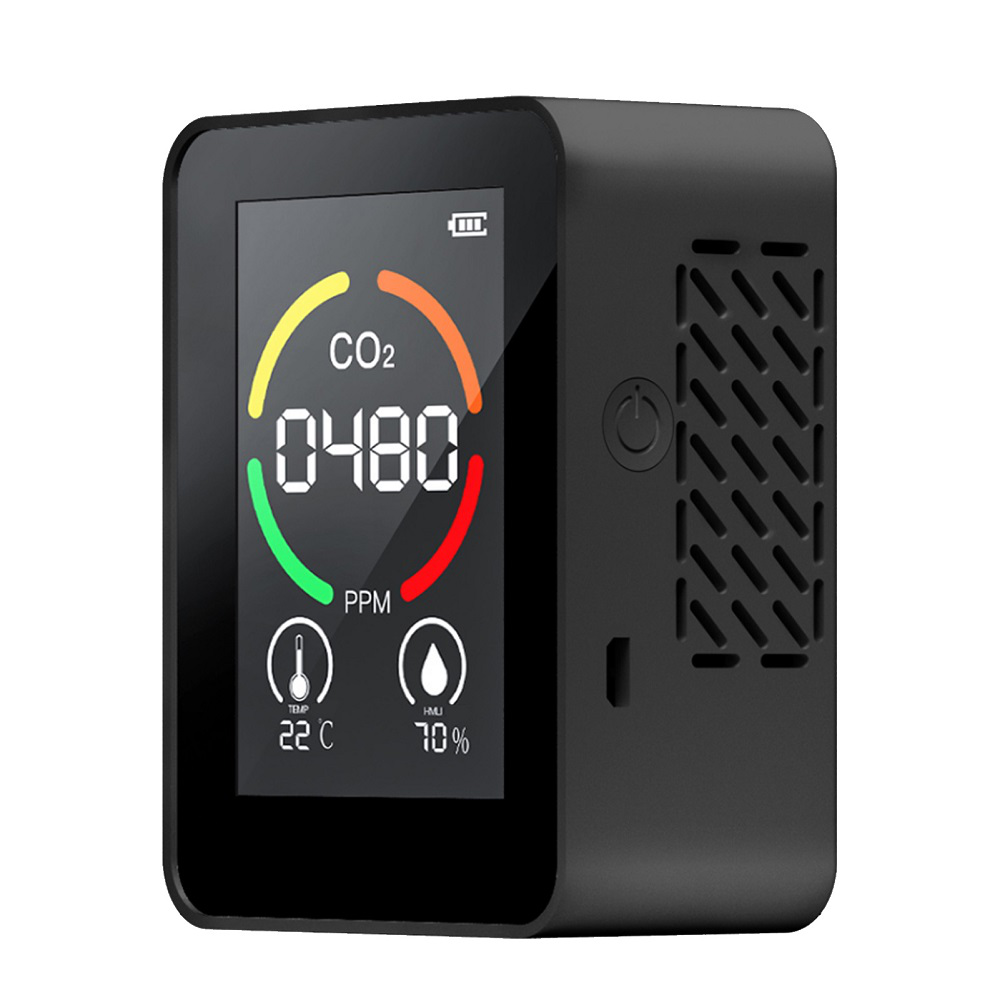 3 in 1 Digital CO2 Meter Carbon Dioxide Detector Air Quality Monitor Temperature Humidity Air Analyzer for Home Office