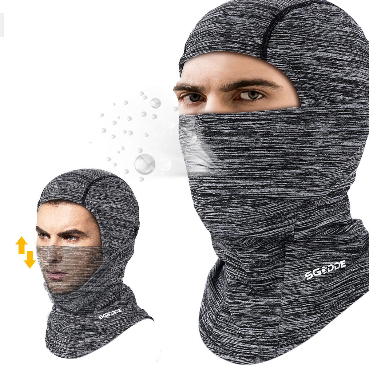 SGODDE Balaclava Face Neck Gaiter Breathable Windproof Head-Wear Skiing Mask Outdoor Sports Electric Bike Scooter Motorcycle