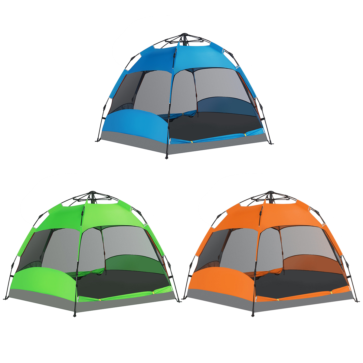 5-8 Person Portable Camping Tent Anti-Sun Waterproof Double Layer Fully Auto Outdoor Camping Tent