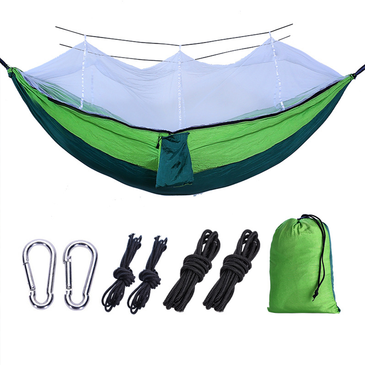 Ipree® 260*140CM with Mosquito Net Portable Travel Hammock Comfortable Hommock Camping Bed Fits 2 Persons
