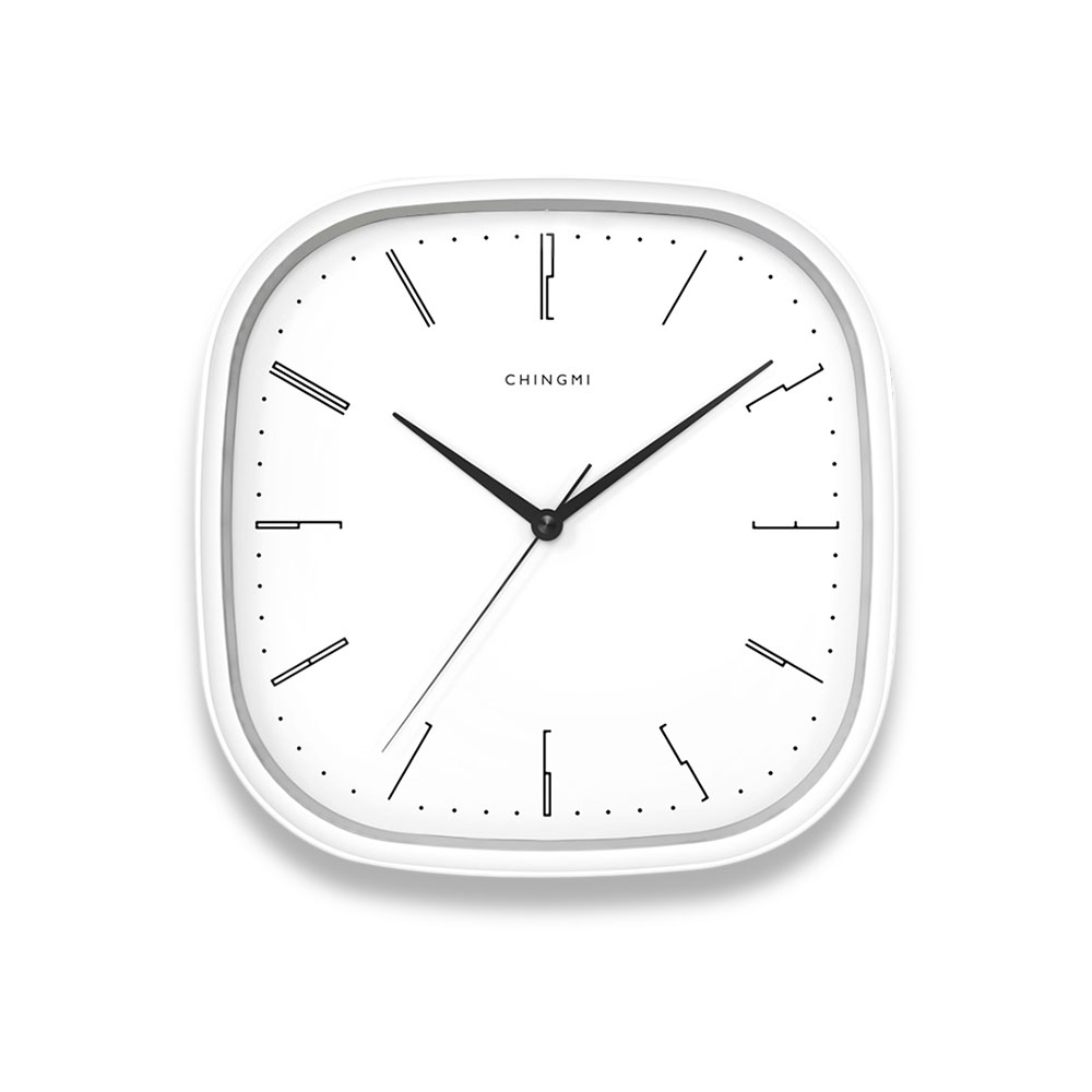 Chingmi Wall Clock Ultra Slient Precise Simple Design Style White Clock Home Decor from Xiaomi Youpin