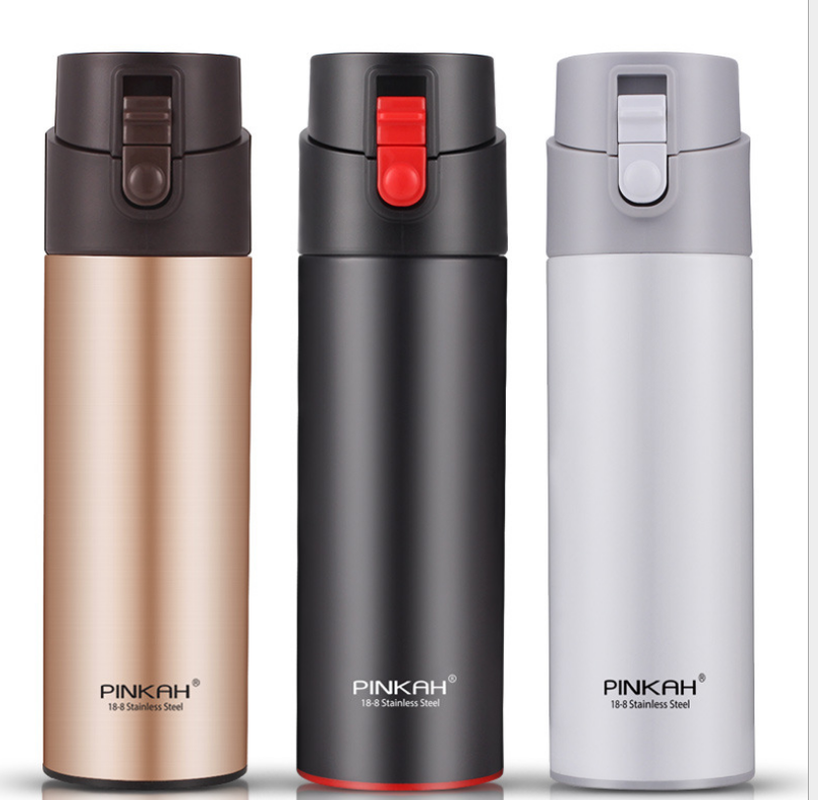 PINKAH 530ML Thermos Bottle with Tea Filter Vacuum Flask Sealed Leakproof Stainless Steel Big Capacity Travel Insulated Cup