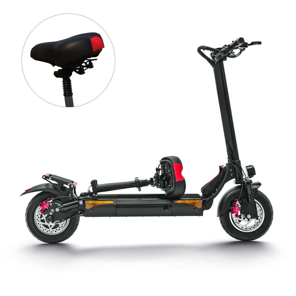 LAOTIE L6 48V Scooter Saddle Seat Professional Breathable Adjustable Shock Absorbing Folding Electric Scooter Chair Cushion