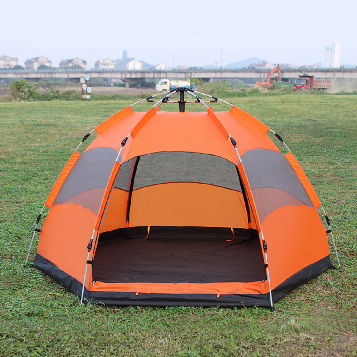 Outdoor Automatic Beach Tent Sun Shelter UV Protection 5-8 Persons Family Tent for Camping