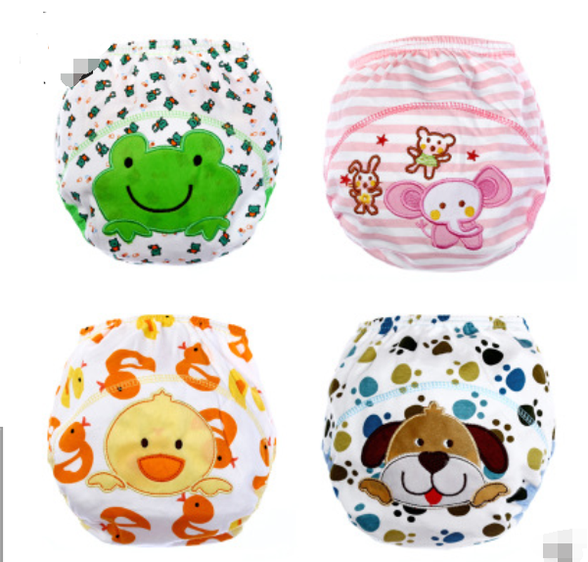 Children'S Cartoon Diaper Pants Baby Learning Pants Infant Cotton Breathable Training Pants Washable Diapers
