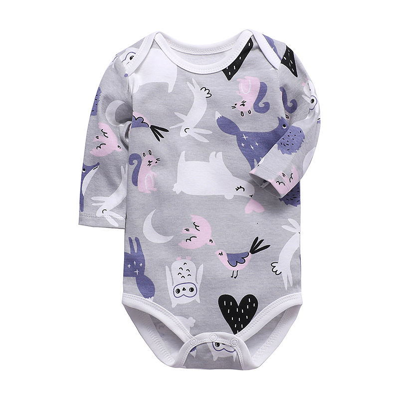 One-Piece Cotton Baby Long-Sleeved Triangle Romper