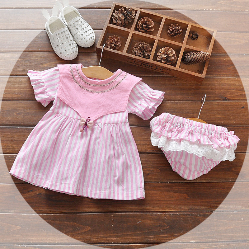 0-3 Year Old Girl'S Dress, Girl'S New Summer Short Sleeved Princess Skirt, Baby'S Clothes for 396