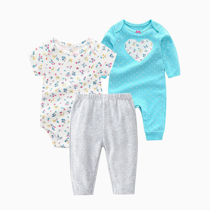 Spring and Autumn Infant Clothing Three-Piece Suit