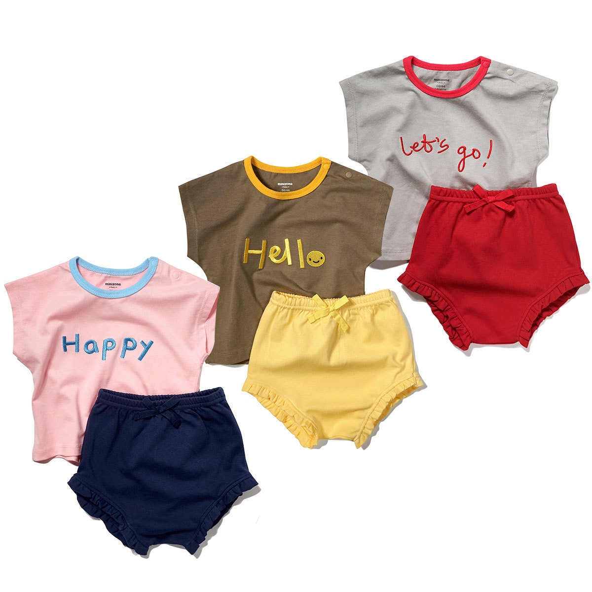 Minizone Girls Suit Baby Shorts Baby Western Fashion Two-Piece Suit