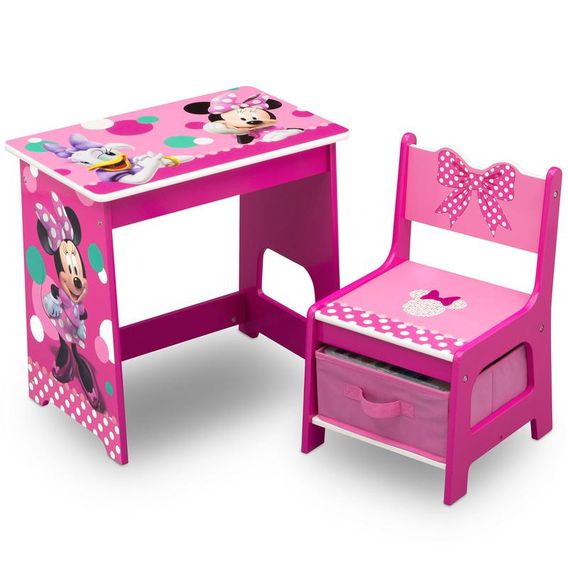 Girls Bedroom Playroom Furniture Pink, Minnie Mouse Furniture