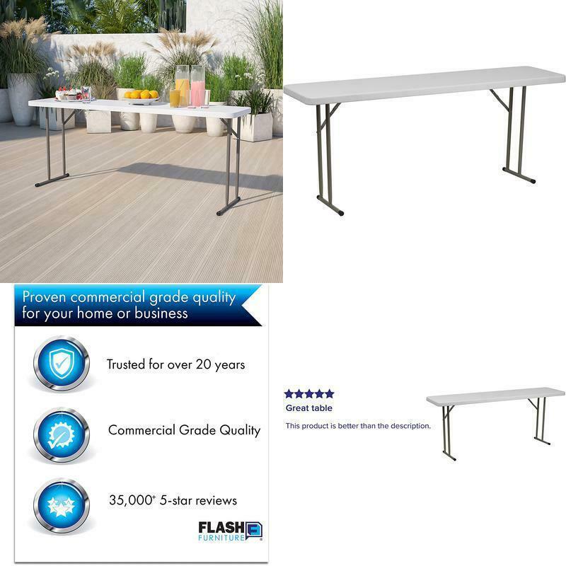 Flash Furniture 6 Foot Granite White, Is Flash Furniture Good Quality