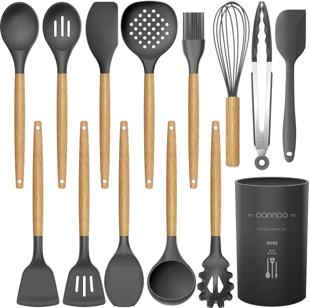 14 Pcs Silicone Cooking Utensils Kitchen Utensil Set - 446°