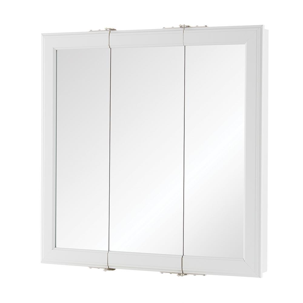 medicine cabinet 24 3/16 in w x 24 3/16 in h wall tri view
